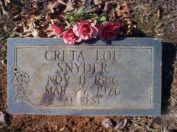 Creta Lou <I>Longley</I> Snyder