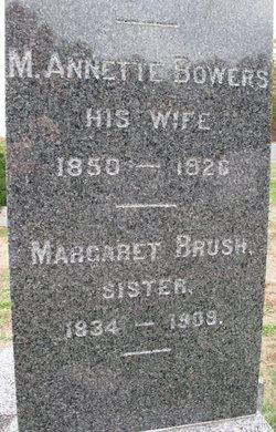 Maria Annette <I>Bowers</I> Brush