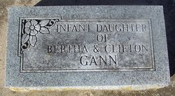 Infant Daughter Gann