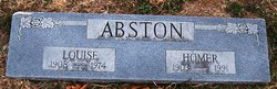 "Lillie Louise ""Louise"" <I>Bishop</I> Abston"