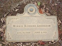 Minnie <I>Robbins</I> Anderson