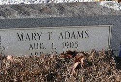 Mary E <I>Brewer</I> Adams