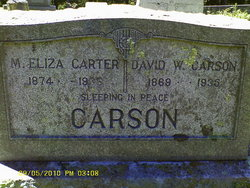 Mary Eliza <I>Carter</I> Carson
