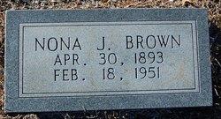 Nona T. <I>Johnson</I> Brown