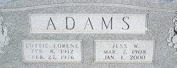 Lottie Lorene <I>Baker</I> Adams