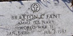 Braxton C Fant