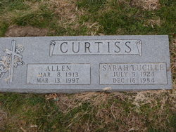 Sarah Lucille <I>Mefford</I> Curtiss