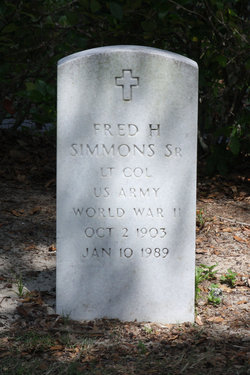 Fred H Simmons, Sr