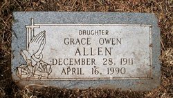 Grace Estell <I>Owen</I> Allen