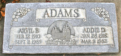 Addie <I>Davies</I> Adams
