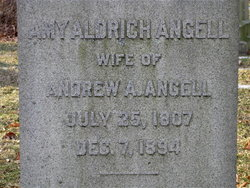 Amy <I>Aldrich</I> Angell
