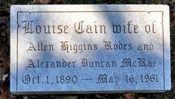 Louise <I>Cain</I> McRae