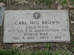 Pvt Carl McClellan Brown