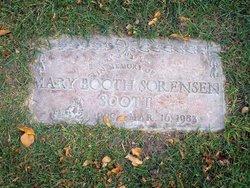 Mary <I>Booth</I> Sorensen Scott