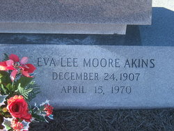 Eva Lee <I>Moore</I> Akins