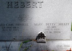 "Mary ""Betty"" <I>Millet</I> Hebert"