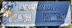 """Nancy Eliza """"Nannie"""" <I>Green</I> Ballard"""