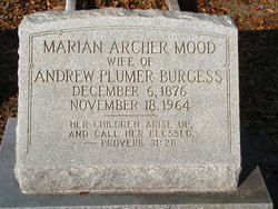 Marian Archer <I>Mood</I> Burgess