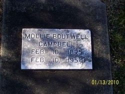 "Mary Ann ""Mollie"" <I>Johnson</I> Boutwell Campbell"