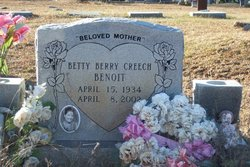 Betty Berry <I>Creech</I> Benoit