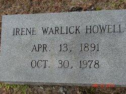 Irene <I>Warlick</I> Howell