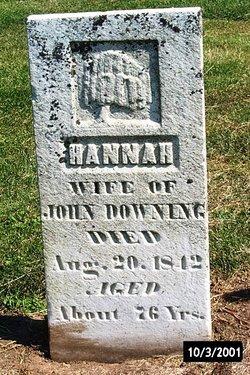 Hannah <I>Frakes</I> Downing