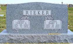 "Maria Friederike ""Mary"" <I>Schurr</I> Rieker"