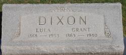 "Mrs Louisa ""Lula"" <I>Lilliston</I> Dixon"