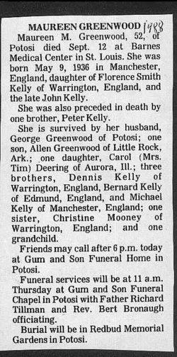 Maureen M. <I>Kelly</I> Greenwood
