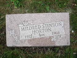 Mildred <I>Stinson</I> Horton
