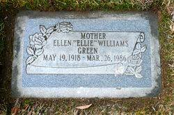 "Ellen ""Ellie"" <I>Williams</I> Green"