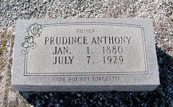 "Prudince Louise ""Prudie"" <I>Stringfellow</I> Anthony"