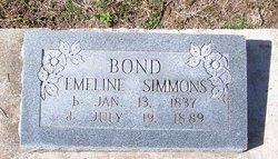 Emeline <I>Simmons</I> Bond