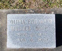 Olivia Elizabeth <I>Bullock</I> Bond