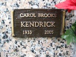 Carol <I>Brooks</I> kendrick