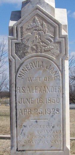 Minerva Jane <I>Robbins</I> Alexander