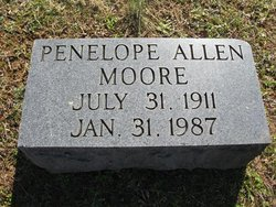 Penelope Van Dyke <I>Allen</I> Moore