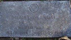 Henry C Cruse