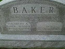 Elizabeth A. <I>Benner</I> Baker