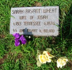 Sarah <I>Bryant</I> Wheat