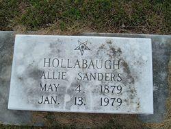 "Theodosia Albertine ""Allie"" <I>Sanders</I> Hollabaugh"