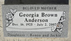 Georgia <I>Brown</I> Anderson