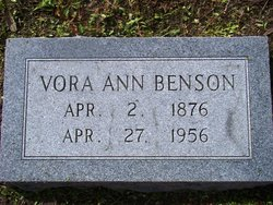 Vora Anne <I>Reddell</I> Benson