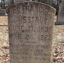 "Francis ""Fannie"" <I>Edge</I> Chestnut"