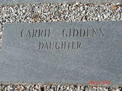Carrie <I>Giddens</I> Chambers