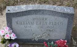 William Etta <I>Pace</I> Peddy