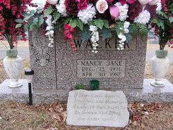 Nancy Jane <I>Evans</I> Allen Walker