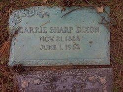 Carrie <I>Sharp</I> Dixon