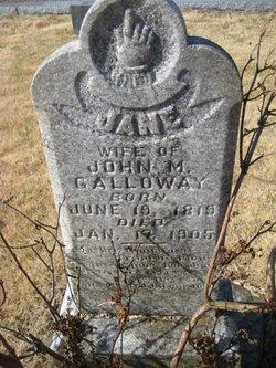 Jane A <I>Glazener</I> Galloway