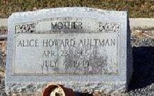 Alice Vivian <I>Howard</I> Aultman